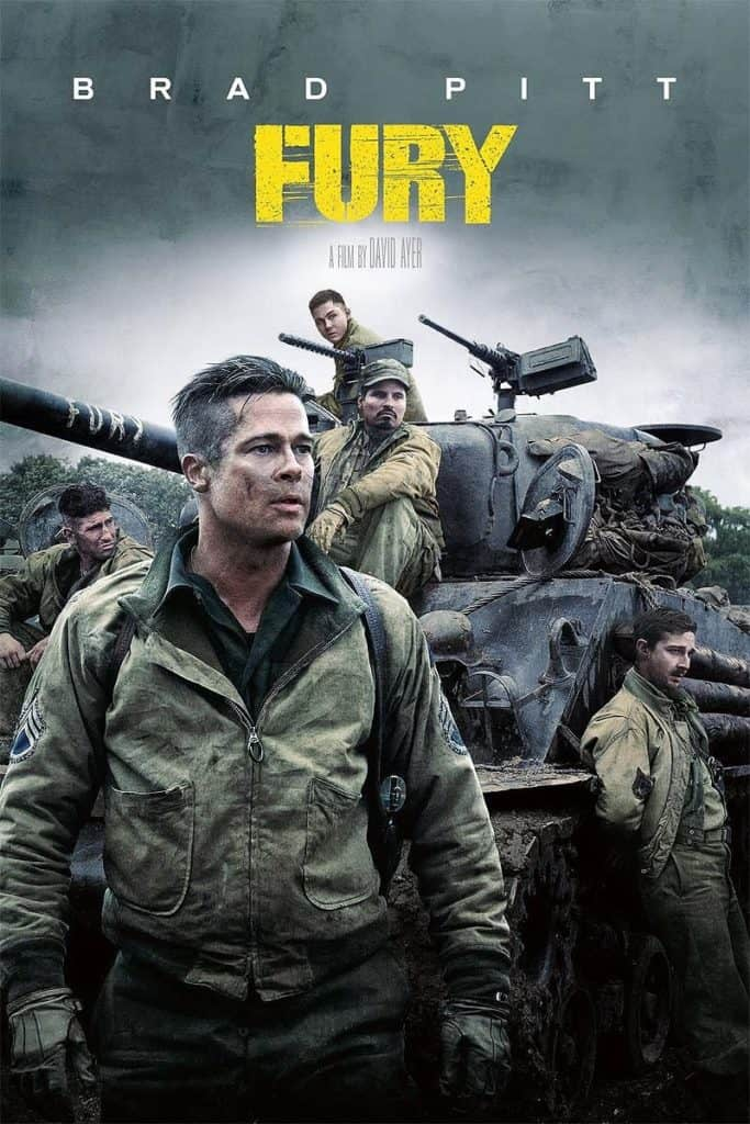 Fury - Best war movies of all time