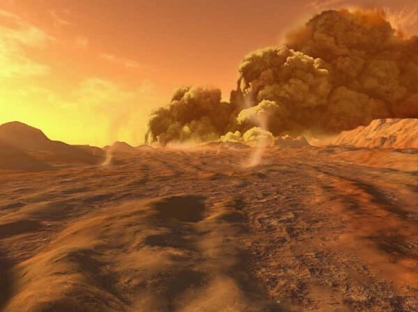 Mars Has the Largest Dust Storms