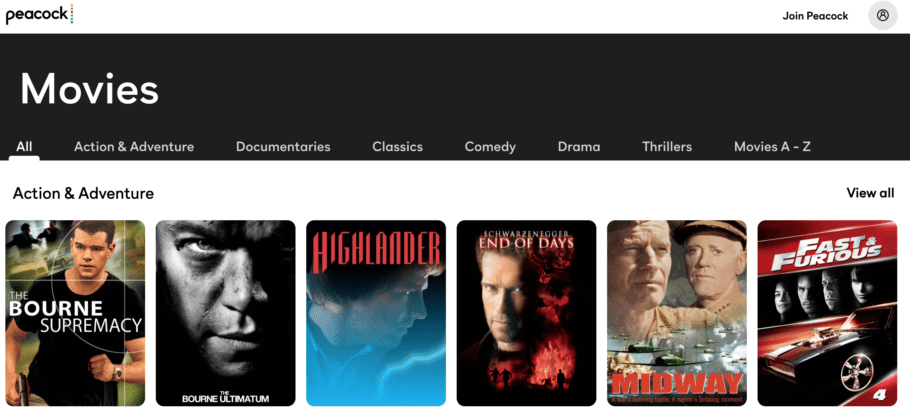 Peacock - Watch movies online for free