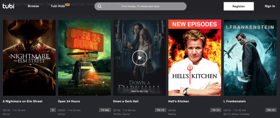 Tubi - Watch movies online for free