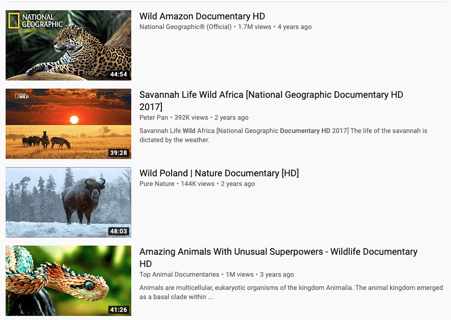 Find numerous documentaries on Youtube